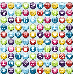 Mobile phone app icons pattern background vector image