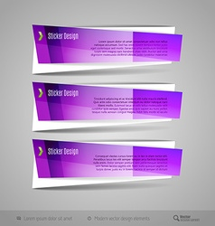 Modern Glossy Banners vector image vector image