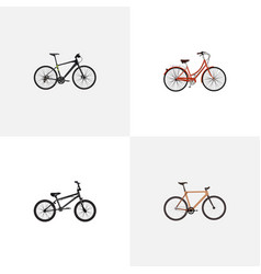 realistic extreme biking retro timbered and vector image