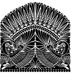 Russian ornament withe bird vector