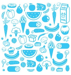 Seamless background of food vector image vector image
