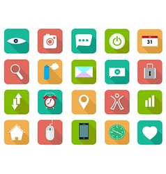 Set of flat icons set vector image vector image