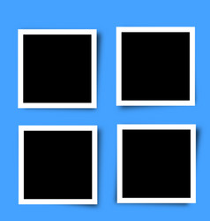 set of retro photo frames vector image