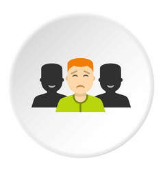 social icon circle vector image