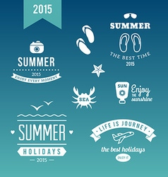 Summer Holidays Design Elements Retro and Vintage vector image vector image