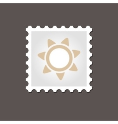 Sun stamp outline vector