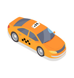 taxi car icon in isometric projection vector image vector image