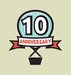 Ten years anniversary vector