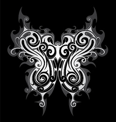 Tribal style butterfly tattoo vector