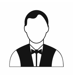 Waiter black simple icon vector image