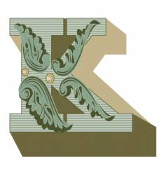 western letter k vector image vector image
