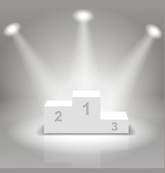 White business winners podium vector image