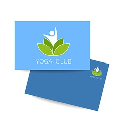 yoga lotos logo template vector image