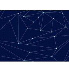 Cosmic polygonal line background vector