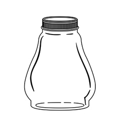 Silhouette glass container with lid vector