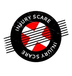 Injury scare rubber stamp vector