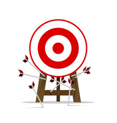 all miss the target goal vector image