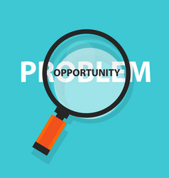Opportunity in problem concept business analysis vector