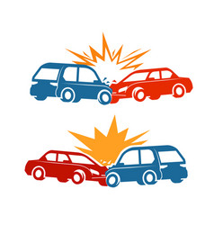 Car crash traffic accident icon vector