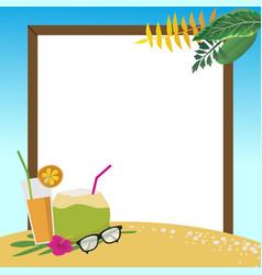 Summer holidays on the beach background vector
