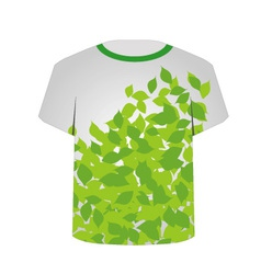 T shirt template- spring leaves vector