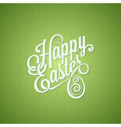 Easter egg vintage lettering design background vector