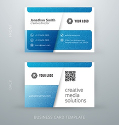 Abstract creative business card template eps10 vector