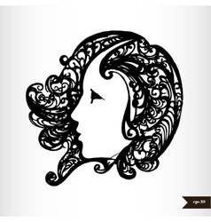 Zodiac signs black and white - virgo vector