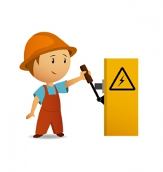 Cartoon electrician vector