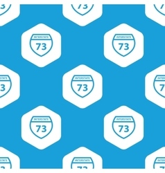 Interstate 73 hexagon pattern vector