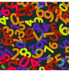 Seamless background with numbers eps 8 vector