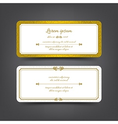 Vintage style invitation card vector