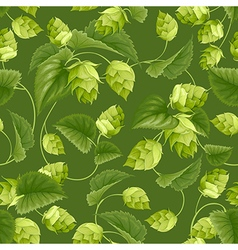 Hops seamless pattern vector