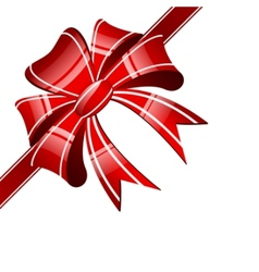 red bow on a white background vector image