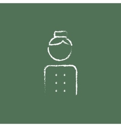 Bellboy icon drawn in chalk vector