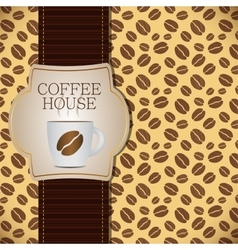 Coffee template background vector