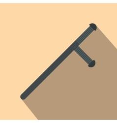 Black rubber baton flat vector image