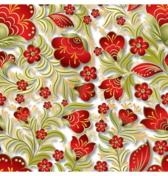 abstract seamless summer red floral ornament on vector image