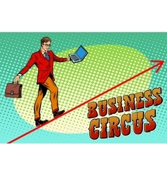 Businessman acrobat business circus vector