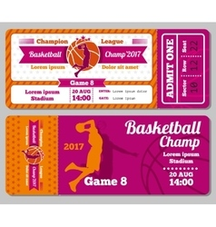 Modern basketball ticket template vector