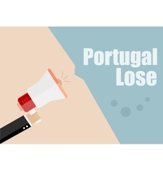Portugal lose flat design business vector
