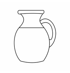 Jug of milk icon outline style vector