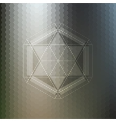 Abstract pattern on blurred hexagonal background vector image