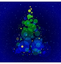 Abstract shining christmas tree vector image vector image