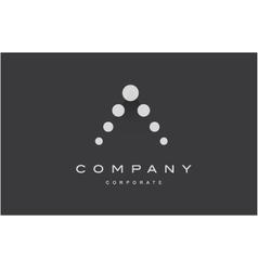 Alphabet letter A dot logo icon design vector image