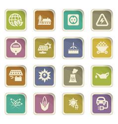Bio fuel industry icons set vector