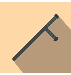 Black rubber baton flat vector image vector image