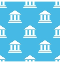Blue classical building pattern vector