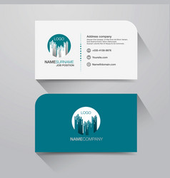 business name card with modern flat design vector image