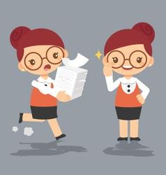 Cartoon female teacher eps10 vector